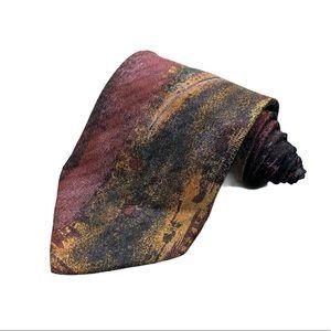 Ermenegildo Zegna Floral Print Silk Tie Necktie